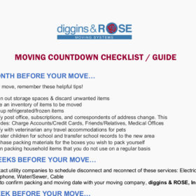 Home Moving Guide Checklist Timeline